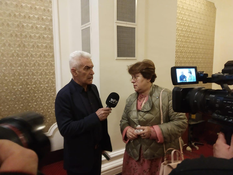 Волен Сидеров прави интервю на Татяна Дончева
