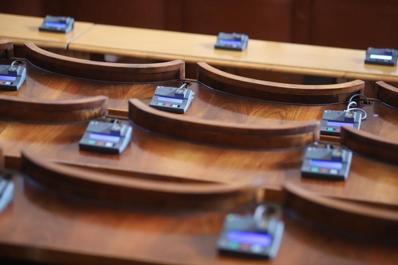 Празна зала в Народното събрание
