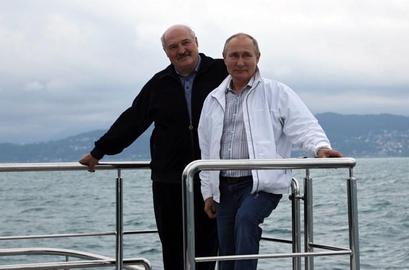 Лукашенко Путин яхта Сочи