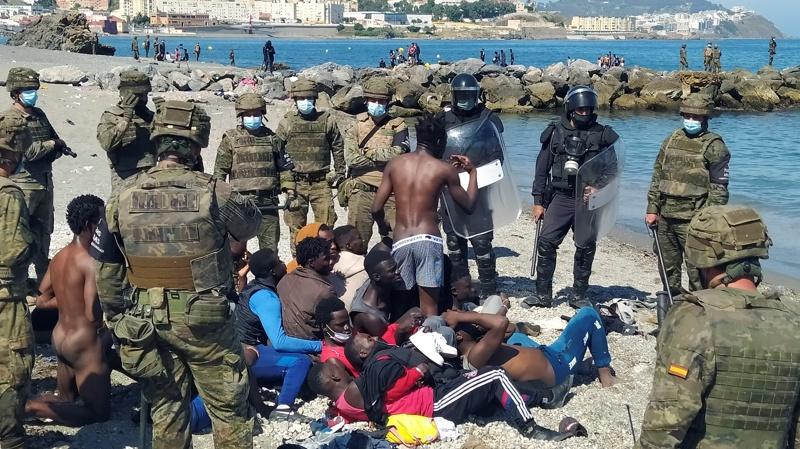 Сеута мигранти Испания Мароко