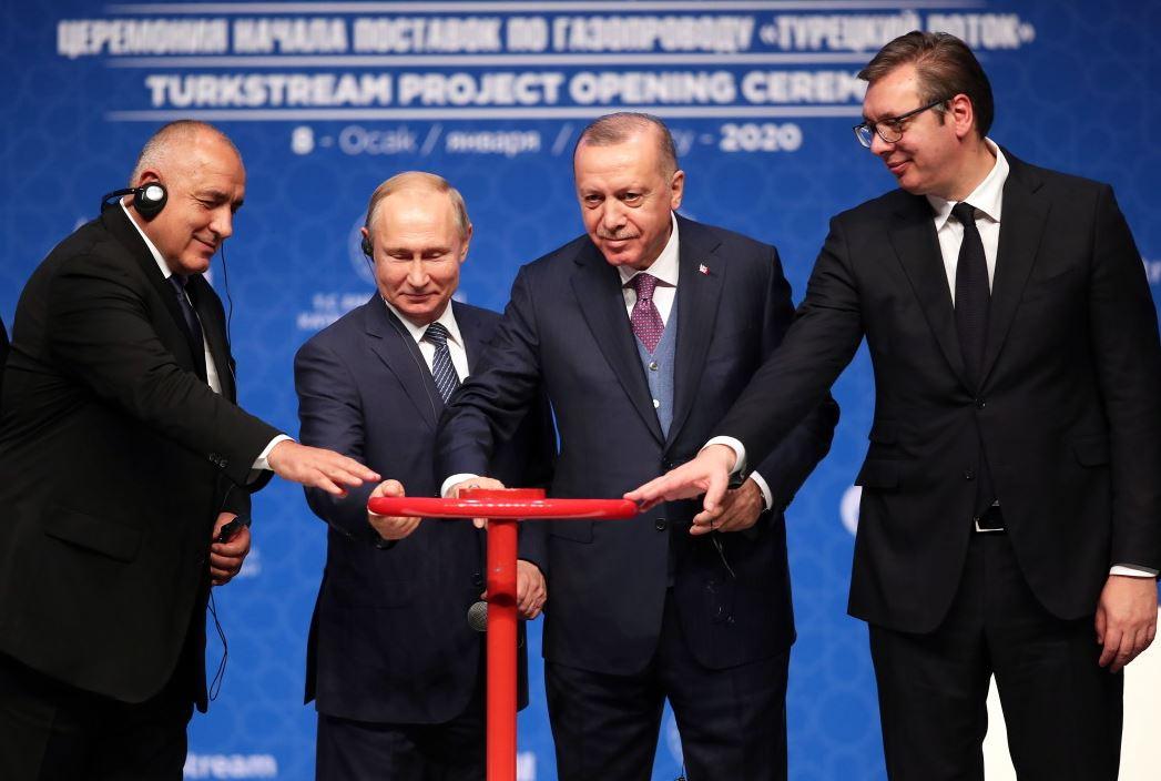 Турски поток Борисов Путин Ердоган Вучич