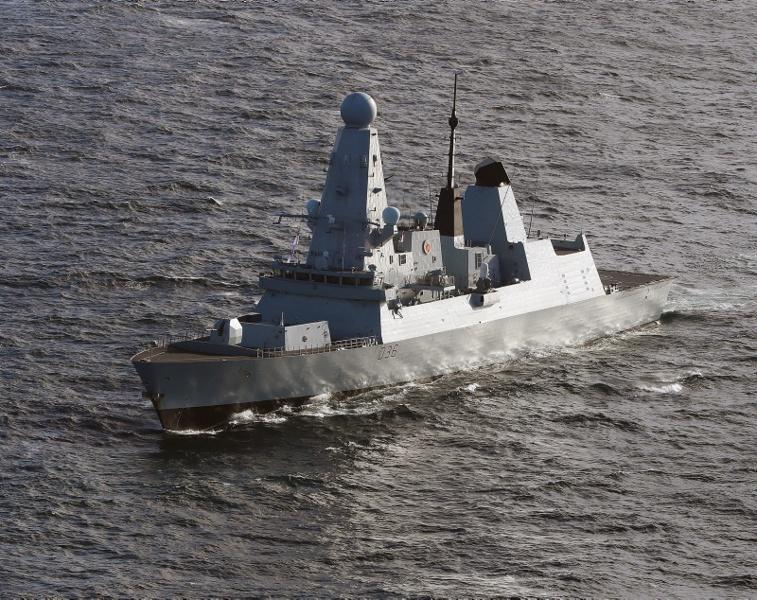 флот британски кораб Дифендър Defender