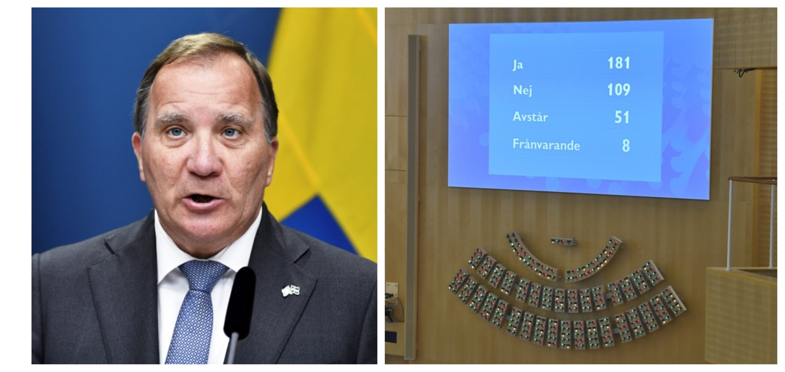 Стефан Льофвен Швеция премиер вот на недоверие