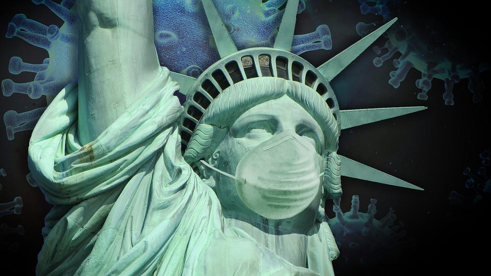 САЩ коронавирус Статуя на свободата