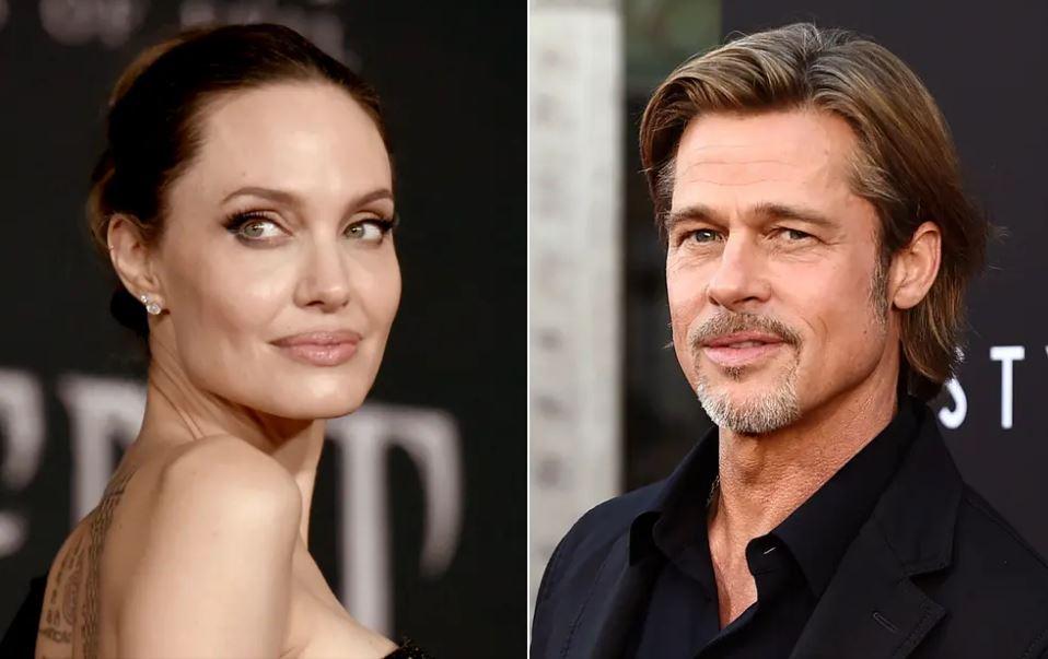 Брад Пит Анджелина Джоли колаж Туитър