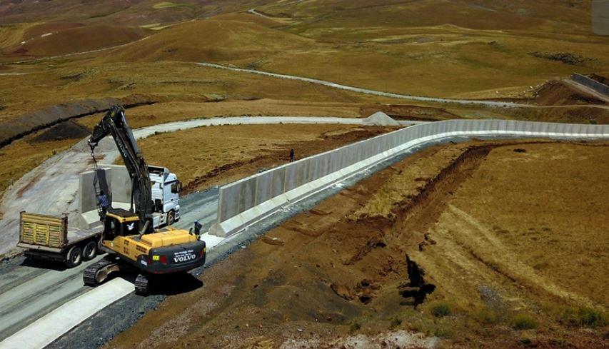 Турция стена Афганистан снимка Туитър