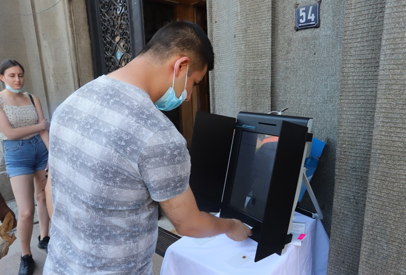 машина за гласуване демонстрация