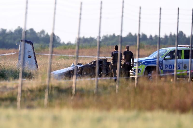 самолет катастрофа Швеция