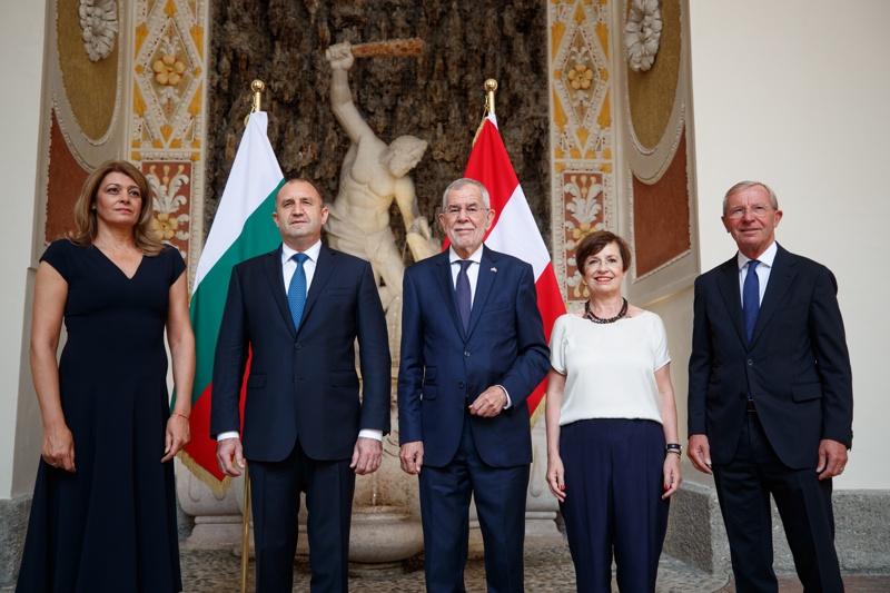 Румен Радев, Десислава Радева и президента на Австрия