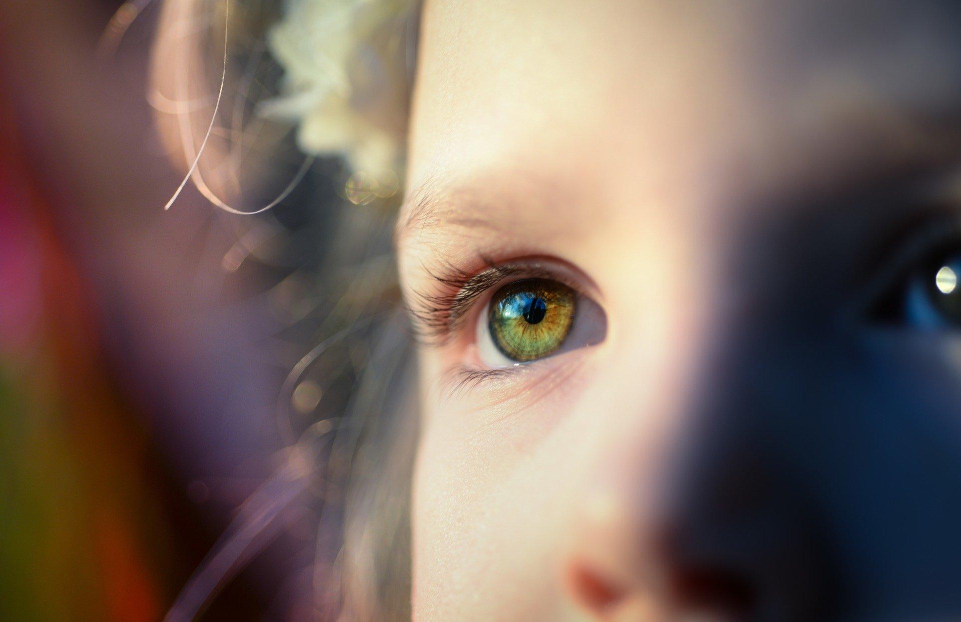 очи, дете