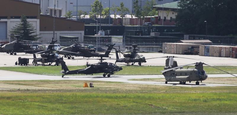 военни маневри Южна Корея САЩ