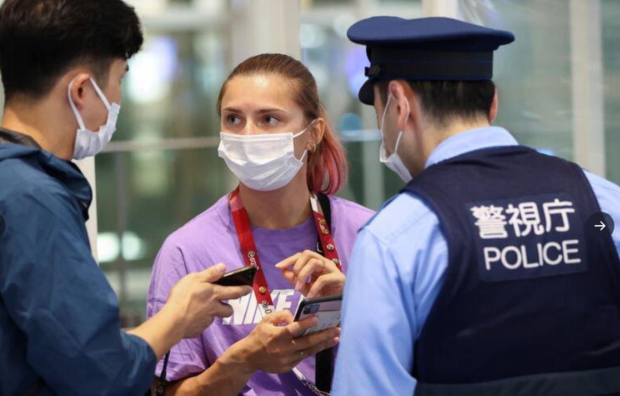 Кристина Тимановска Токио полиция снимка Туитър