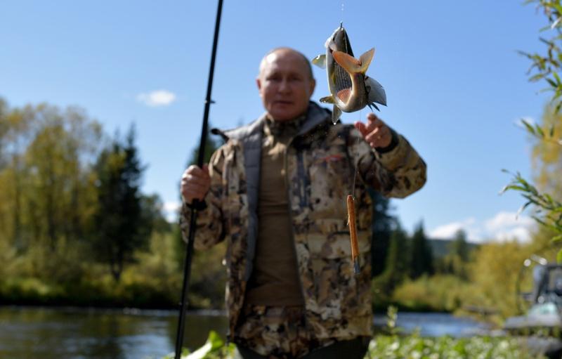 Владимир Путин риба риболов Сибир