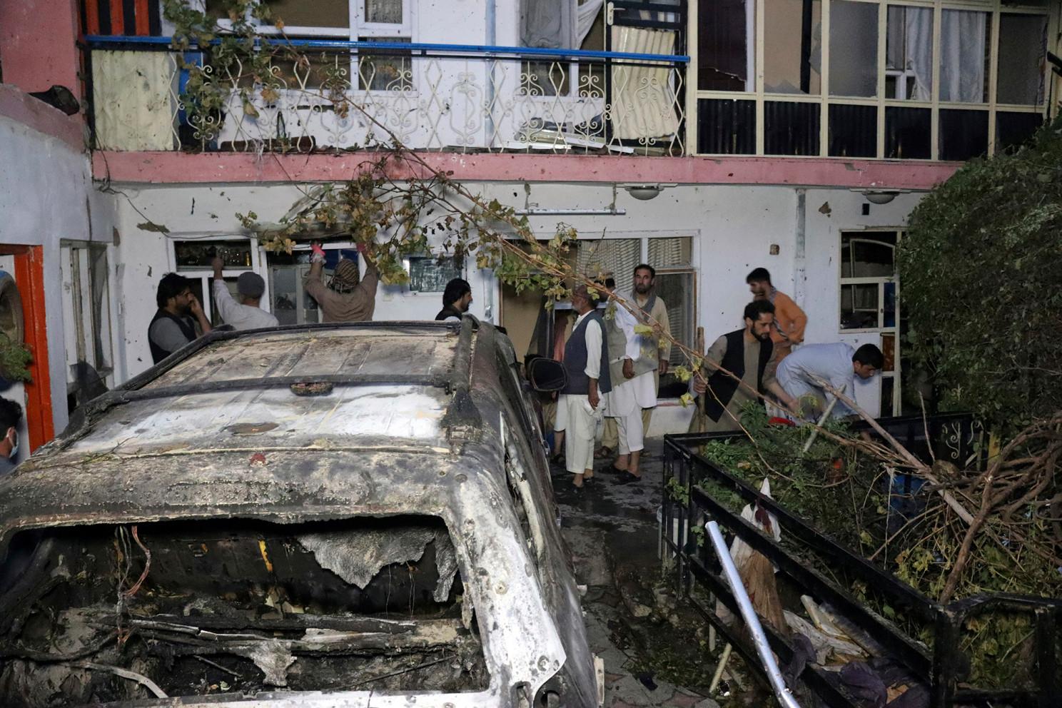 Кабул дрон удар