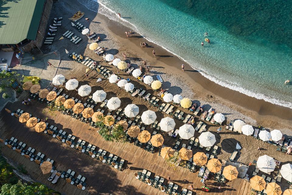 плаж лято чадъри Турция