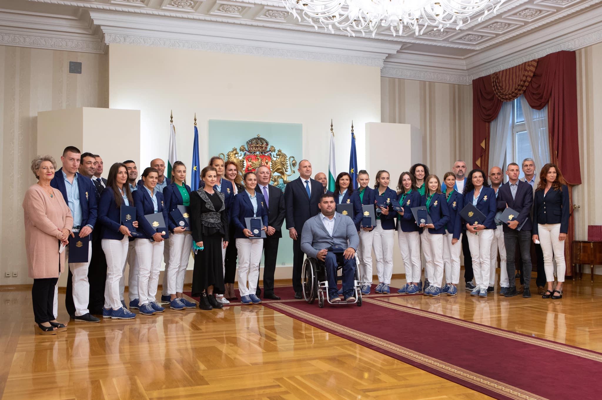 Румен Радев с олимпийците