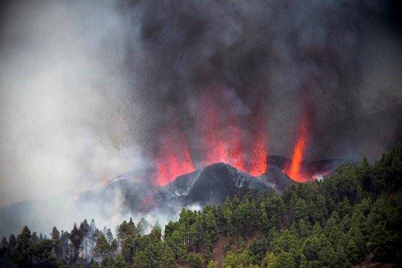 вулкан Канарски острови Кумбре виеха