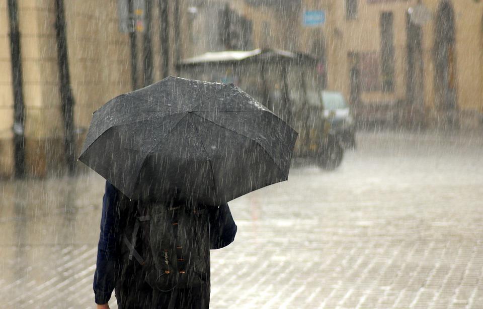 порой дъжд чадър
