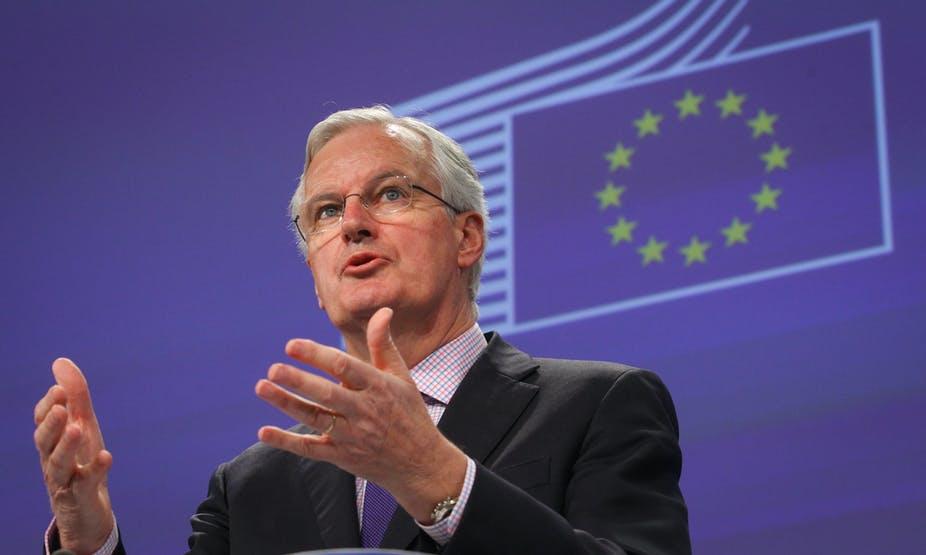 Мишел Барние Брекзит преговарящ