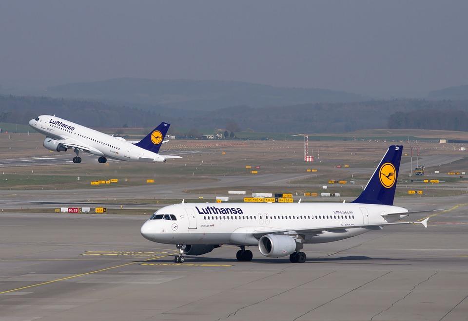 Луфтханза самолети летище