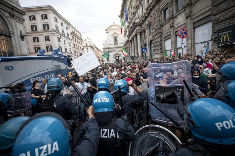 Рим, протест
