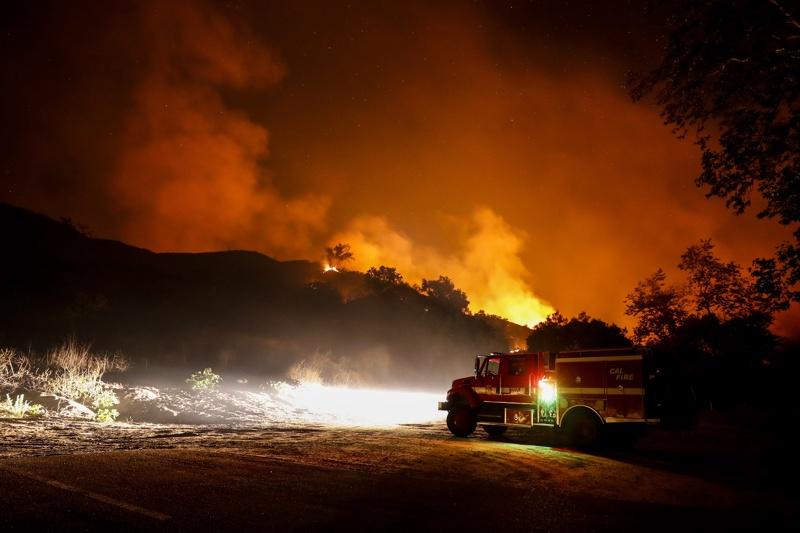 БГНЕС пожар Калифорния